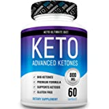Keto Ultimate Diet – Ketogenic Diet Supplement with Beta Hydroxybutyrate Ketone Salts – Boost Energy and Metabolism – Keto Diet Pills 60Caps