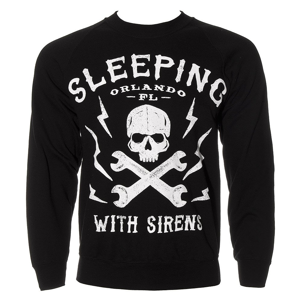 Sleeping With Sirens Unisex-adults Orlando Skull Sweatshirt