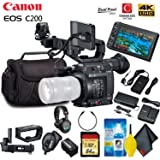 Canon EOS C200 Cinema Camera (EF-Mount) Standard Accessory Kit (Color: Body Only, Tamaño: Standard)