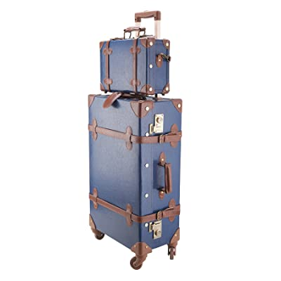 CO-Z Premium Vintage Luggage Sets 24-Inches Trolley Suitcase and 12-Inches Hand Bag Set With TSA Locks