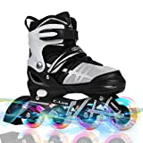 Adjustable Inline Skates for Kids and Adults , Otw-Cool Rollerblades with All Wheels Light up , Safe and Durable inline roller skates for Girls and Boys , Men and Ladies