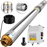 Happybuy Deep Well Submersible Pump 2HP 220V Submersible Well Pump 423ft 26GPM Stainless Steel Deep Well Pump for Industrial and Home Use (Tamaño: 2HP - AC 220V - 423ft - 26GPM)