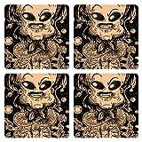 Posterboy The Alien Thalaivar MDF Coaster Set, Set Of 4, 101mm, Multicolor