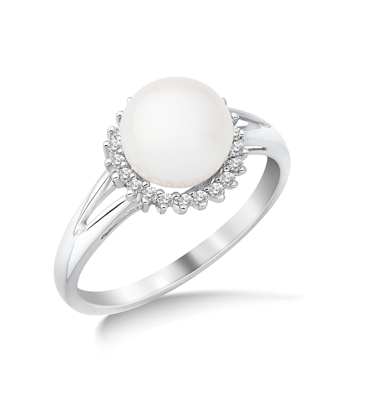 Miore Damen-Ring 9 Karat (375) Weißgold Diamant als Geschenk