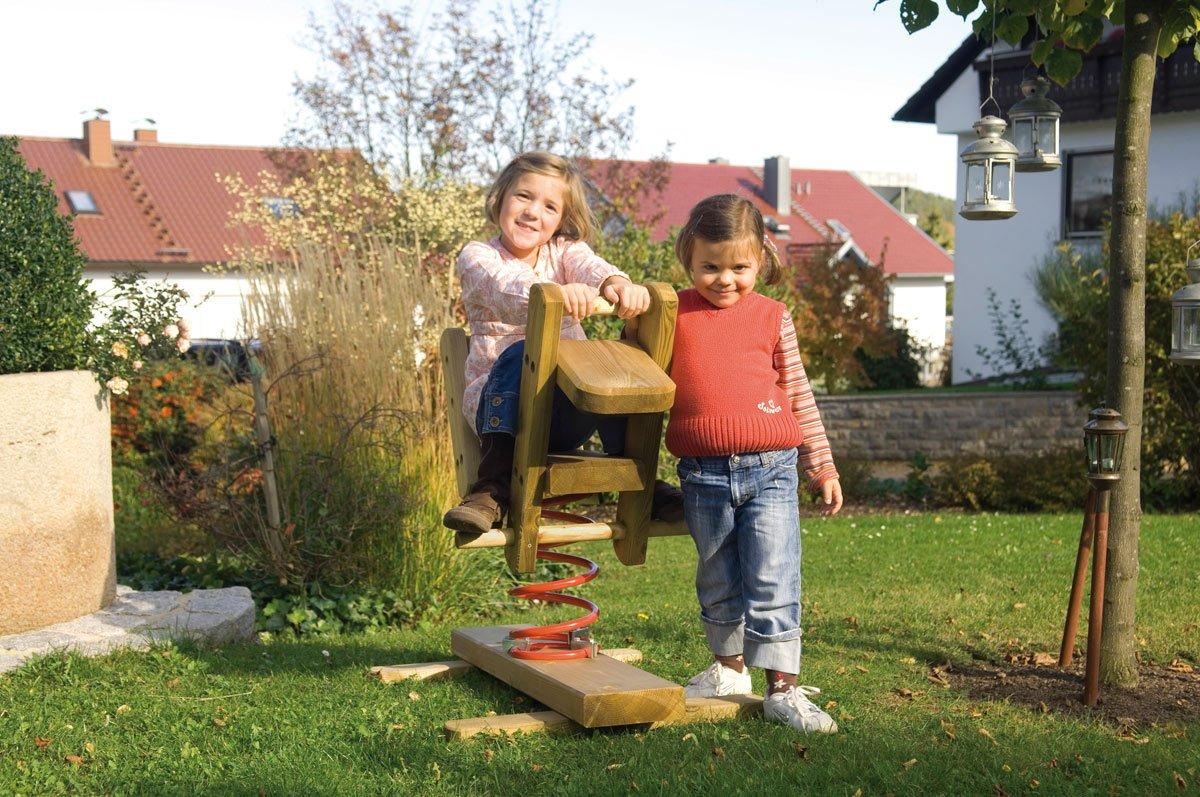 Federwippe Bike aus Holz für den Garten günstig