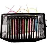 Knitters Pride DREAMZ Deluxe Interchangeable Needle Set (Color: black, Tamaño: Size Markers, End Caps, Cord Keys, and 1 carrying case)