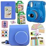 Fujifilm Instax Mini 9 Instant Fuji Camera (Cobalt Blue) + Case + Instant Mini 9 Film 40 Pack + Accessories Bundle: Colorful Picture Frames + Decorative Stickers + Selfie Mirror + Photo Album & More. (Color: Cobalt Blue)