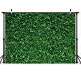 LYWYGG 7x5FT Green Leaves Photography Backdrops Mmicrofiber Nature Backdrop Birthday Background for Birthday Party Seamless Photo Booth Prop Backdrop CP-87 (Color: GREEN LEAF, Tamaño: 7x5FT)