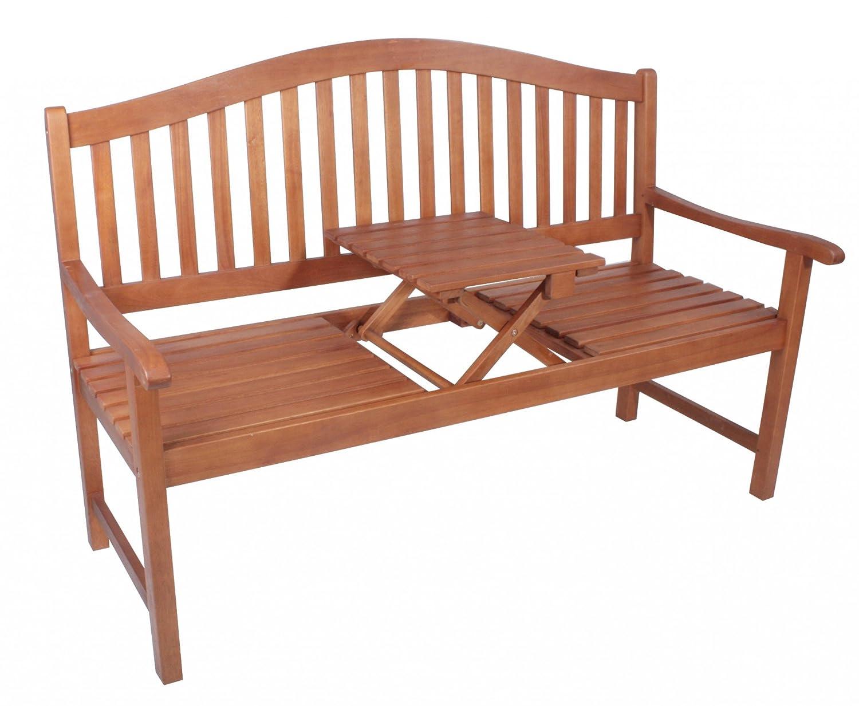 Gartenbank PHUKET 3-Sitzer mit Tisch Sitzbank Bank Eukalyptus FSC Hartholz günstig online kaufen