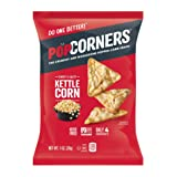 POPCORNERS Sweet & Salty Kettle Corn Popped Corn Snacks, Gluten Free, Non-GMO, Single-Serve 1oz bags (Pack of 40)