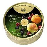 Cavendish & Harvey Mixed Candy Tin, Fruit, 5.3 Ounce (Pack of 12) (Tamaño: 5.3 Ounce)