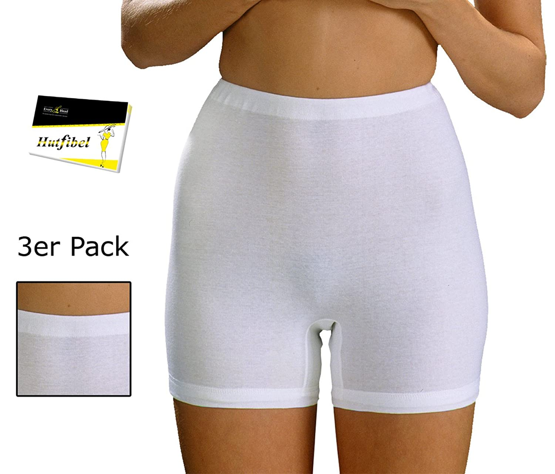 3er Pack Damen Taillenslip mit kurzem Bein Schlüpfer Slip Panty Hipster (FS-190153) – inkl. EveryHead-Hutfibel online bestellen