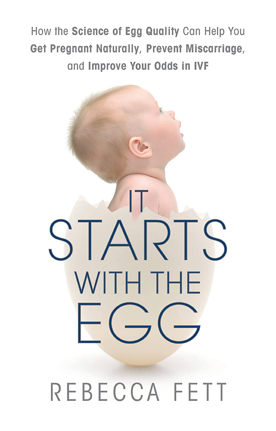 Image: It Starts with the Egg: How the Science of Egg Quality Can Help You Get Pregnant Naturally, Prevent Miscarriage, and Improve Your Odds in IVF, by Rebecca Fett. Publisher: Franklin Fox Publishing LLC (March 25, 2014)