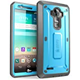 SUPCASE LG G4 Case, Full-body Rugged Holster Case with Built-in Screen Protector for LG G4 2015 Release, Unicorn Beetle PRO Series - Retail Package (Blue/Black) (Color: Blue/Black, Tamaño: LG G4 2015 Release)