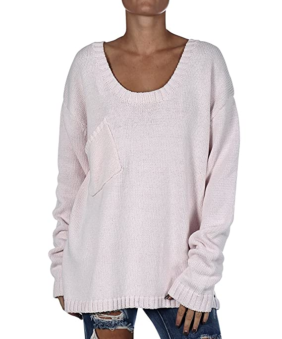Women's One Teaspoon White Classic Chunk Knit Pullover Sweater