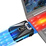 Solgan Laptop Cooler Fan with Temperature Display, Auto-Temp Detection and Rapid Cooling, USB Powered, Perfect for Gaming Laptop (Color: black)