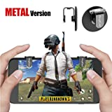 Mobile Game Controller Metal, FengNiao Sensitive Shoot and Aim Buttons L1R1 for PUBG/Knives Out/Rules of Survival, PUBG Mobile Game Joystick, Cell Phone Game Controller for Android IOS(1 Pair)