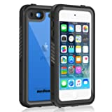 Waterproof Case for iPod 6/iPod 5, Meritcase Knight Series Waterproof Shockproof Dirtproof Snowproof Case Cover with Kickstand for Apple iPod Touch 5th/6th Generation for Snorkeling (Color: Black)