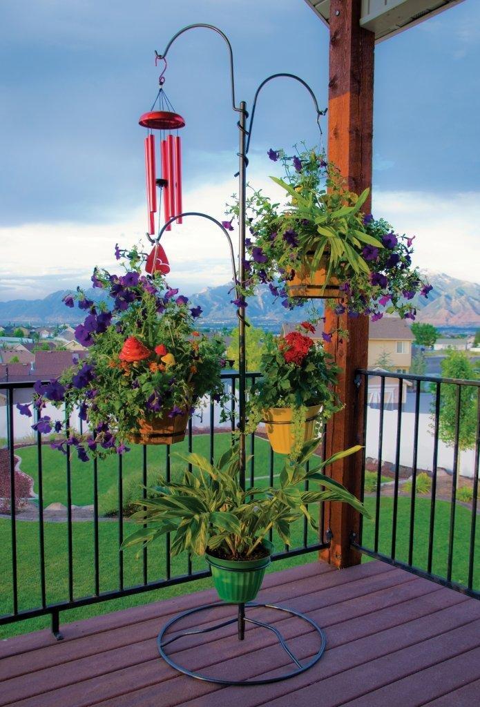 Outdoor Plant Stand Hanging Basket Holder Tree Flower Pot