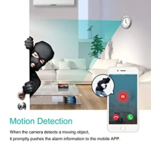 Spy Hidden Camera, WHDSWL HD 1080P WiFi Wall Clock Security Nanny Camera Support Loop Recording/Motion Detection/Remotely View/Global Monitoring, for iOS/Android/PC
