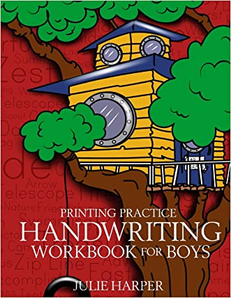 Printing Practice Handwriting Workbook for Boys