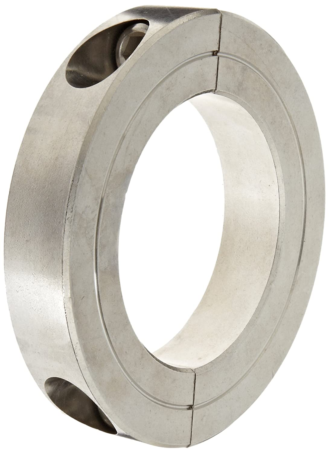 Climax Metal H2C-250-S T303 Recessed Screw Clamping Collar, Two Piece, Stainless Steel, 2-1/2 Bore Size, 4 OD, With 3/8-24 x 1 1/4 Set Screw 1 set 8 219mm od sanitary pipe weld ferrule tri clamp silicone gasket stainless steel ss304 swt 219