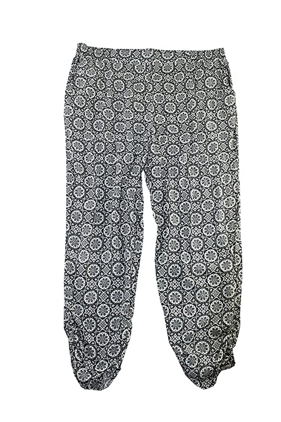 American Rag Womens Plus Pattern Ruched Ankle Casual Pants