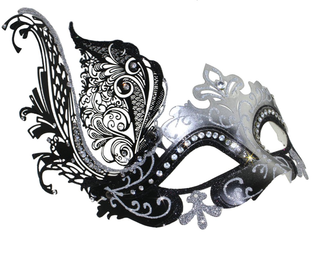 Coxeer Venetian Mask Halloween Mask Party Mask Vintage Masquerade Mask for Prom 0