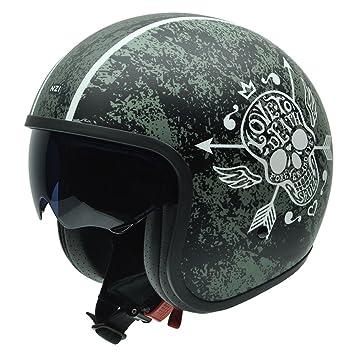 NZI 050287G745 Rolling Graphics Love to Death, Casque de Moto, Taille S Multicolore