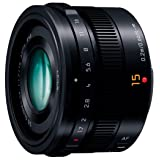 Panasonic LUMIX G LEICA DG SUMMILUX 15mm / F1.7 ASPH. H-X015 -K (Black) - International Version (No Warranty)