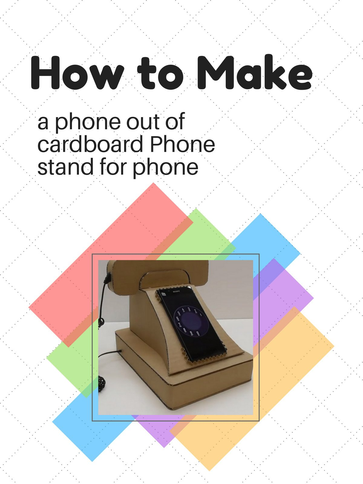 How to make a phone out of cardboard Phone stand for phone