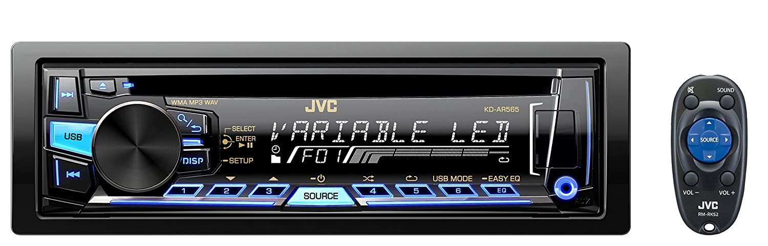 JVC KD-AR565 CD Receiver with Front USB/AUX