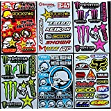 6 bogen Aufkleber BL-1 selbstklebend Stickers rockstar energy drink BMX moto-cross decals Abziehbilder MX