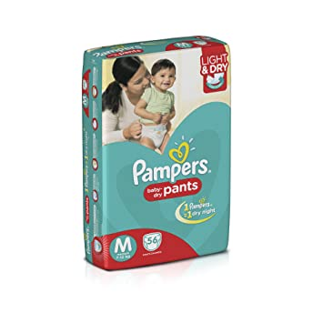 Image result for PAMPERS DIAPERS MEDIUM SIZE PANTS PACK OF 56