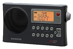 Sangean PR-D4W AM/FM Weather Alert Portable Radio with Bandwidth Narrowing, AM Auto Tracking