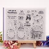 Shoresu Clear Stamps Sheets Transparent Silicone Seal for DIY Scrapbooking Photo Album Decorative 15×12.5cm/5.91×4.92in (Tamaño: 15×12.5cm/5.91×4.92in)