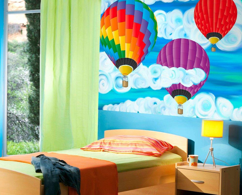 hot air balloon wall mural