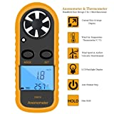 Handheld Digital LCD CFM/CMM Thermo Anemometer + Infrared Thermometer For Wind Speed Gauge Meter Temperature