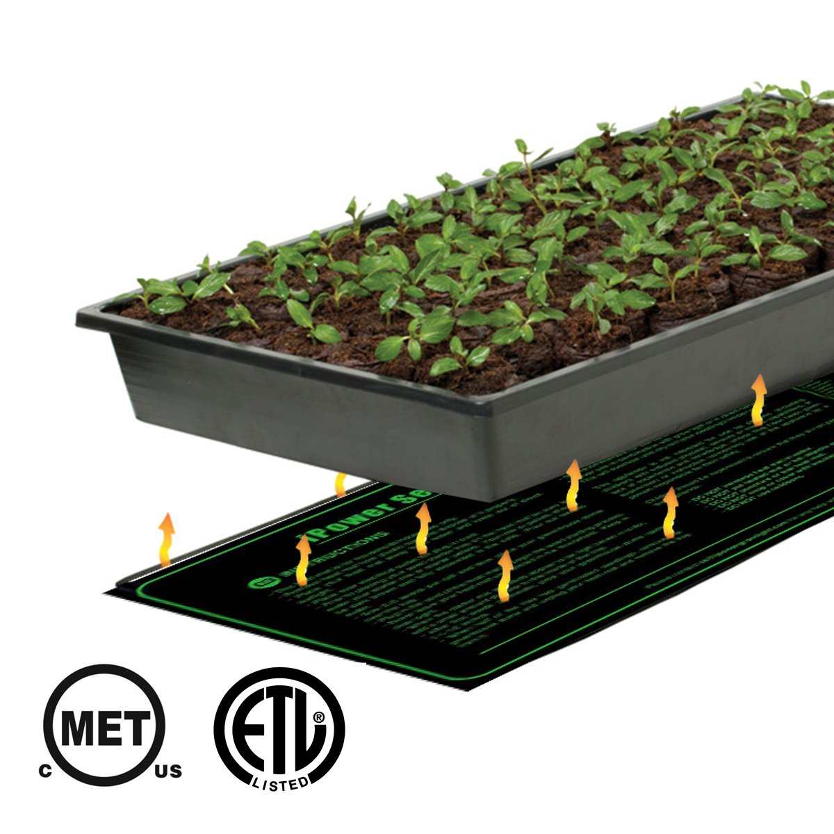 """iPower 10"""" x 20.5"""" Small Warm Hydroponic Seedling Heat Mat and 68-108°F Digital Thermostat Control Combo Set for Seed Germination"""