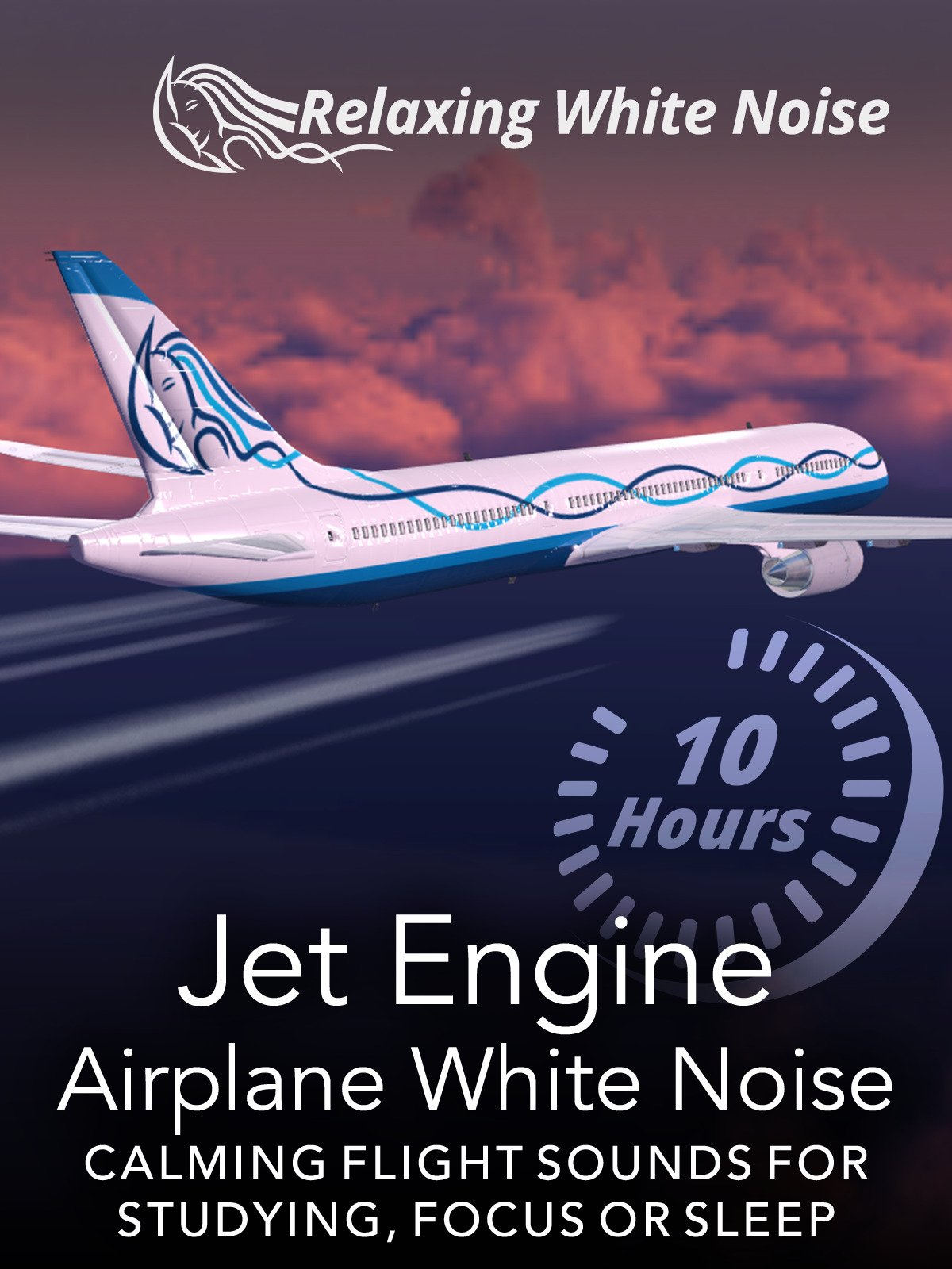 Jet Engine Airplane White Noise 10 Hours