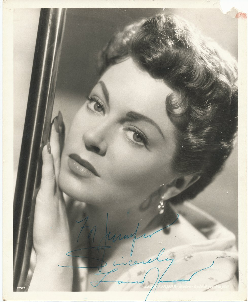 Autographed Lana Turner Photo