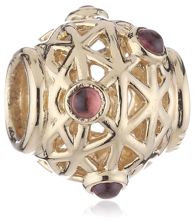 Pandora Damen-Bead 585-Gelbgold , Ornamentkugel mit Rhodolith , 750508RHL schenken