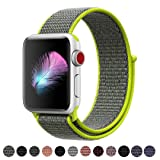Yunsea Compatible for Apple Watch Band 44mm, Soft Nylon Sport Loop, with Hook and Loop Fastener, Band Compatible for iwatch Series 4 (44mm, Flash) (Color: Loop-flash, Tamaño: 44mm)