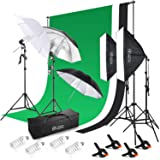 Photo Studio Softbox Continuous Lighting Background Backdrop Stand Umbrella Kit