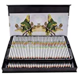 Water Soluble Colored Pencils 72 Count Set-Artist Quality Aquarelle Pencils Drawing Pencils for Adults and Children (Tamaño: 73 count)