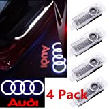 CNAutoLicht 4PCS Cree LED Door Step Courtesy Light Fit Audi A1 A2 A3 A4 A5 A6 A7 A8 Q2 Q3 Q6 Q5 Q7 R8 TT RS4 RS5 RS6 RS7 S3 S4 S5 S6 S7 S8 Welcome Light Laser Shadow Logo Projector Lamp #1