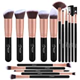 Bestope Makeup Brush Set 16PCs Premium Cosmetic Brushes With Super Velvety Synthetic Hair Kabuki Foundation Blush Eyeshadow Liner Powder Blend Concealer Face Complexion Beauty Tools (Rose Gold)