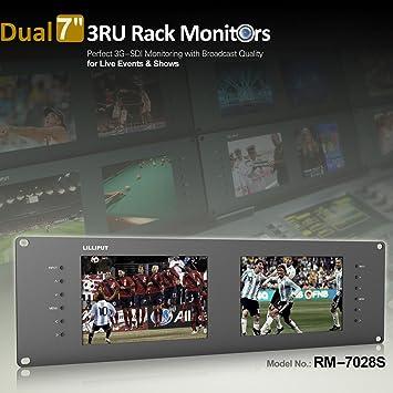 "Lilliput RM-7028S Dual 7"" 3ru Rack Monitors with Dual 7"" IPS Screens Viewing Sd Hd and 3g-sdi Video on 3ru Rack Monitor"