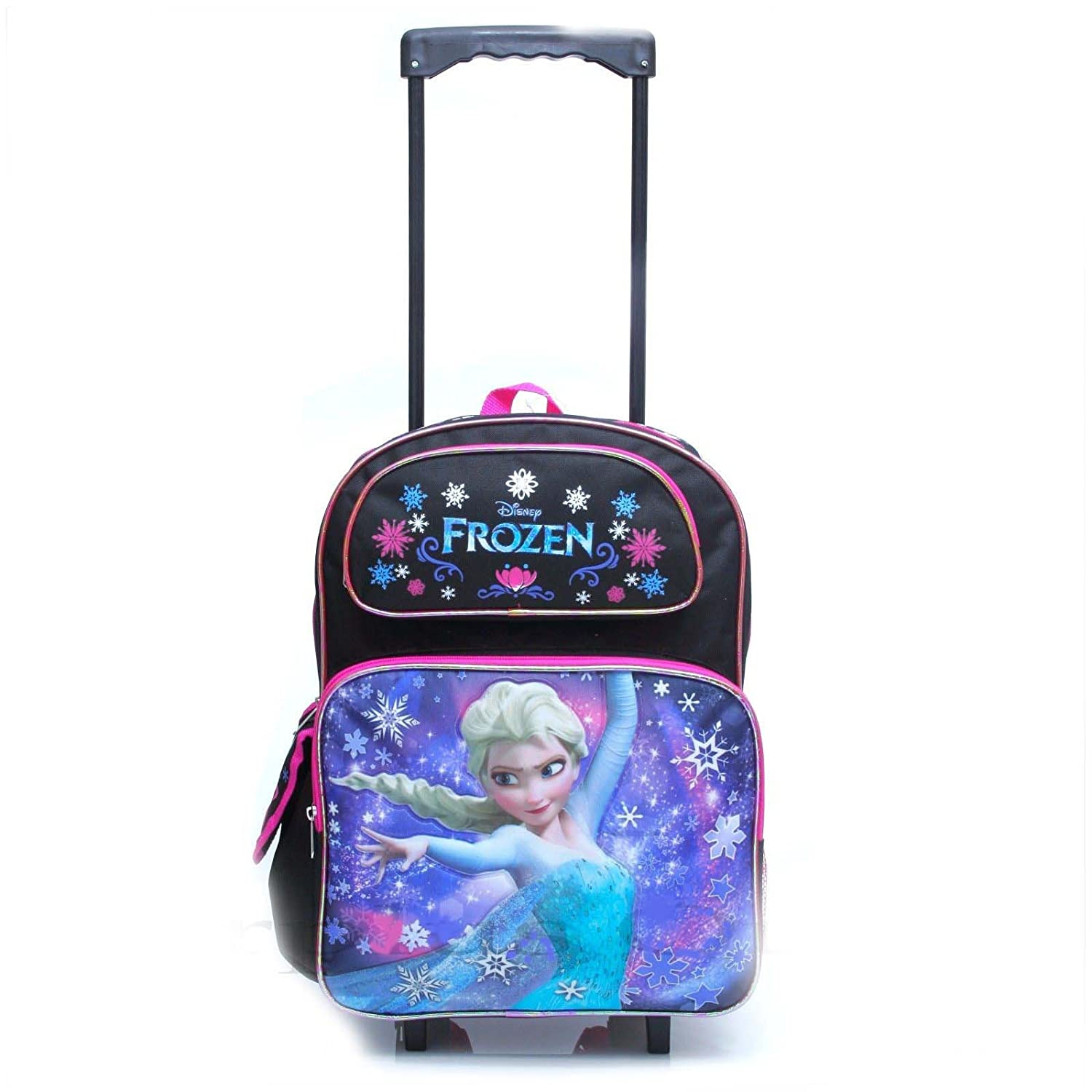 Disney Frozen Elsa Large Rolling Backpack Bag Luggage Tote