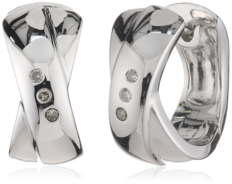 Celesta Damen-Creolen 925 Sterling Silber 6x Diamanten 0.052 ct. 312210004 kaufen